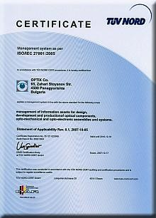 OPTIX Co Covers the Requirements of Five International Standards